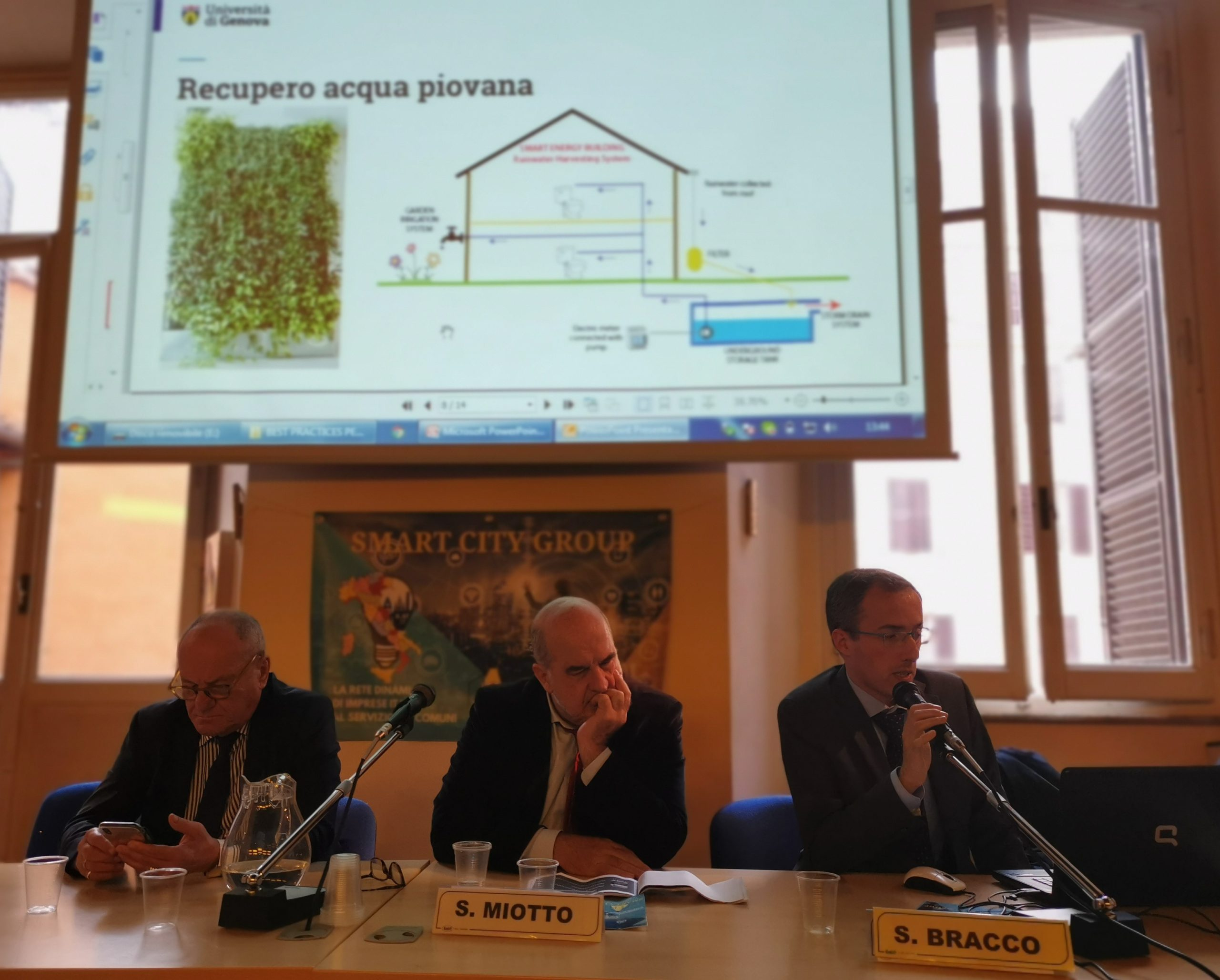 F. CHIUCHIURLOTTO (ANCI) S. MIOTTO (SMART CITY GROUP) S. BRACCO (UNIVERSITA' DI GENOVA)